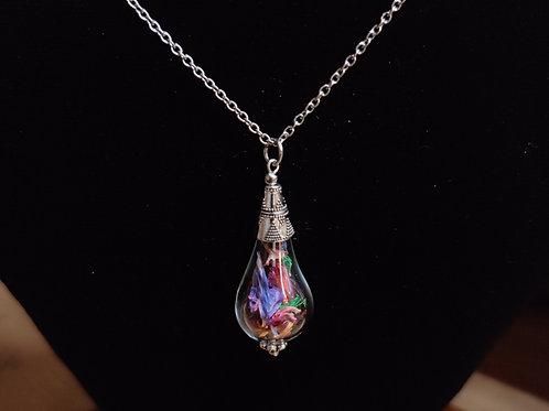 Flower necklace unique number 49