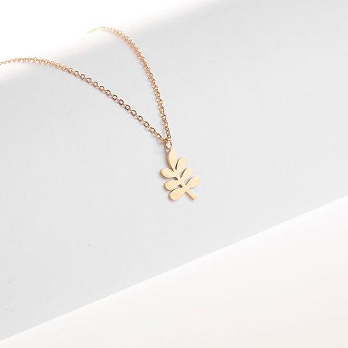 Halskette Lorbeerblatt groß