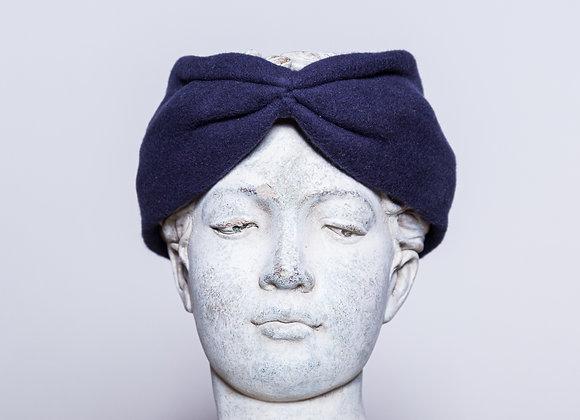 Haarband Bio Baumwolle, Blau