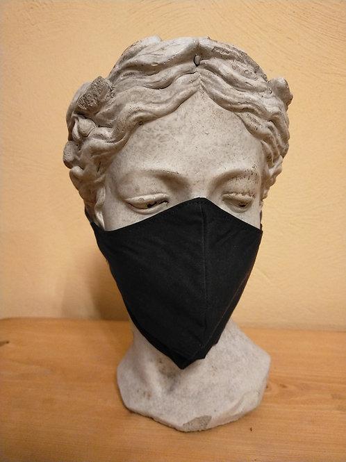 Maske Schwarz, einfarbig