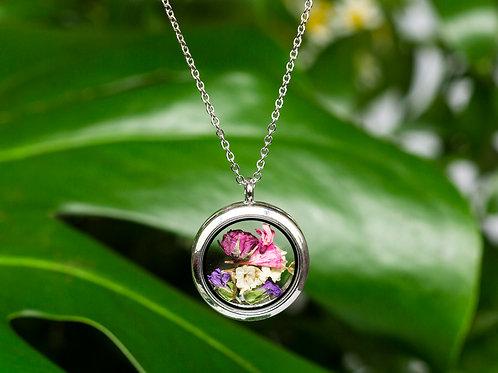 """Halskette """"Blumenmix"""" Medallion"""