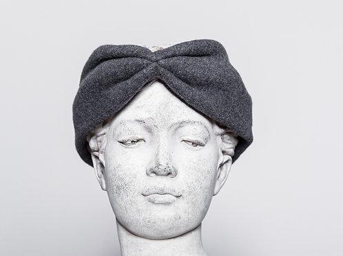Hair band organic cotton, dark gray