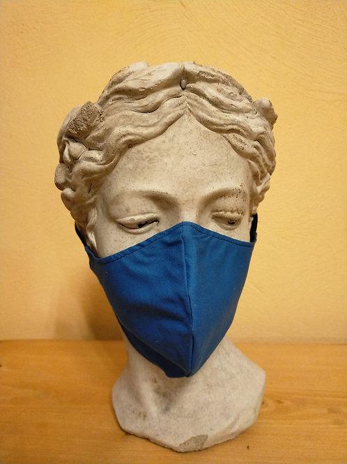Maske Blau, einfarbig