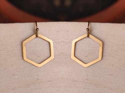 Pendant earrings hexagon