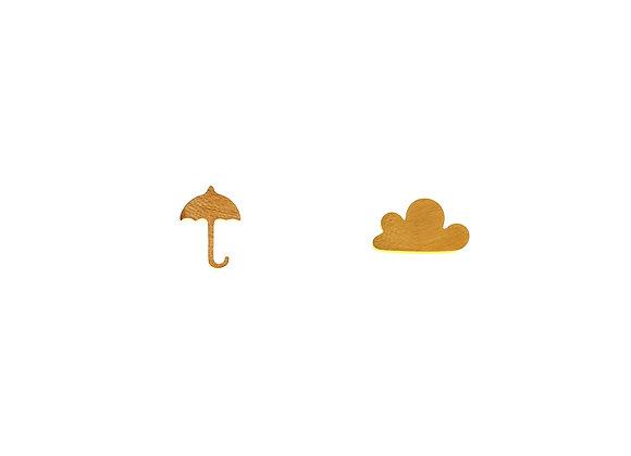Ohrstecker Schirm und Wolke