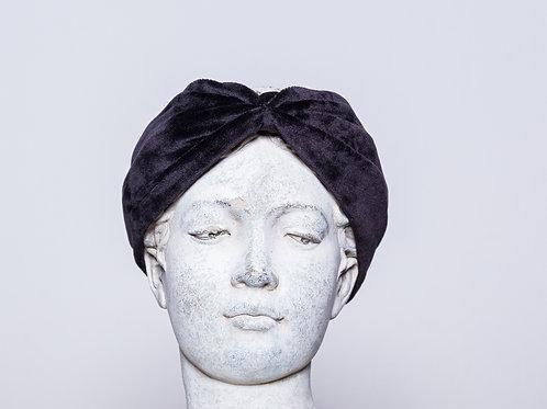 Velvet headband, black