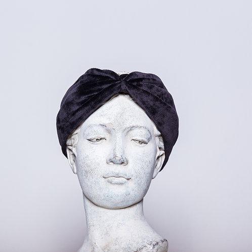 Haarband Samt, Schwarz