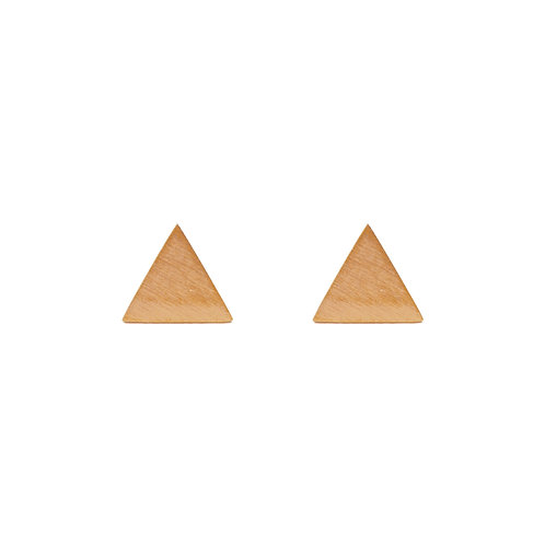 Ohrstecker Dreieck zweifarbig, voll