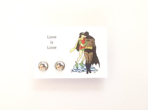 Love is Love stud earrings