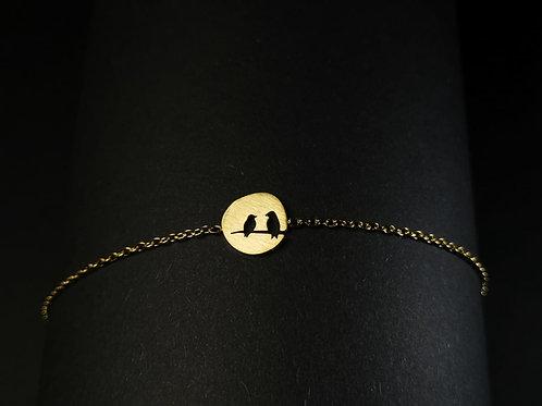 Two birds bracelet