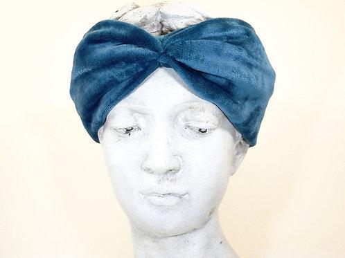 Haarband Samt, Meerblau