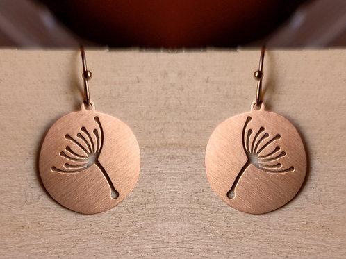 Dandelion drop earrings large