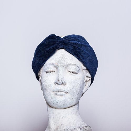 Haarband Samt, Blau
