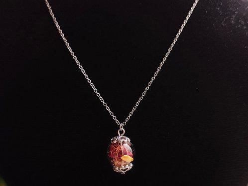 Flower necklace unique number 108