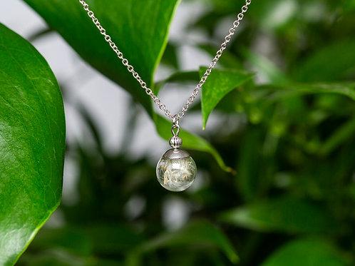 """Dandelion"", silver, medium sphere"