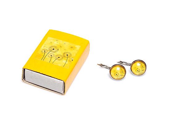 Ohrring Pusteblume gelb