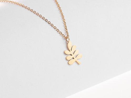 Halskette Olivenblatt groß