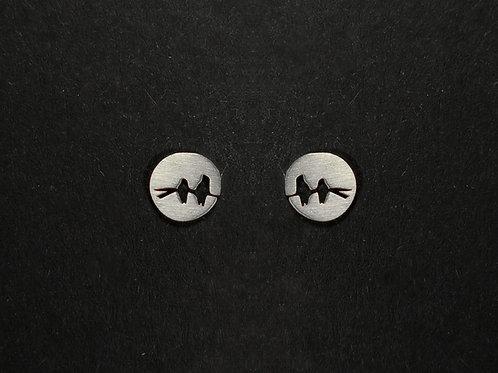 Ohrstecker zwei Vögel