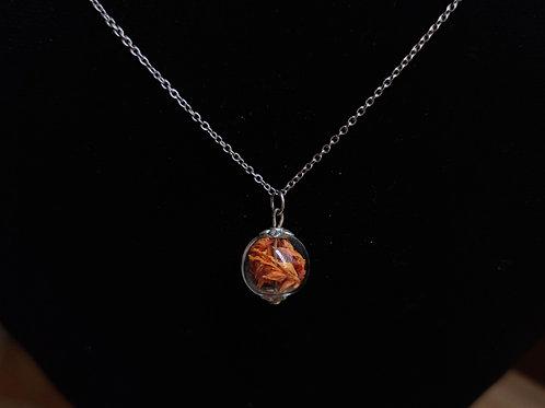 Flower necklace unique number 43