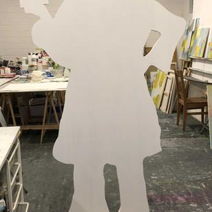 Frauenfigur weiss grundiert