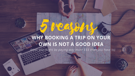 5 reasons why booking a trip on your own is not good idea.