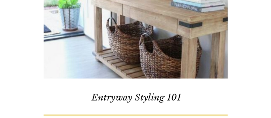 Entry Way Styling 101