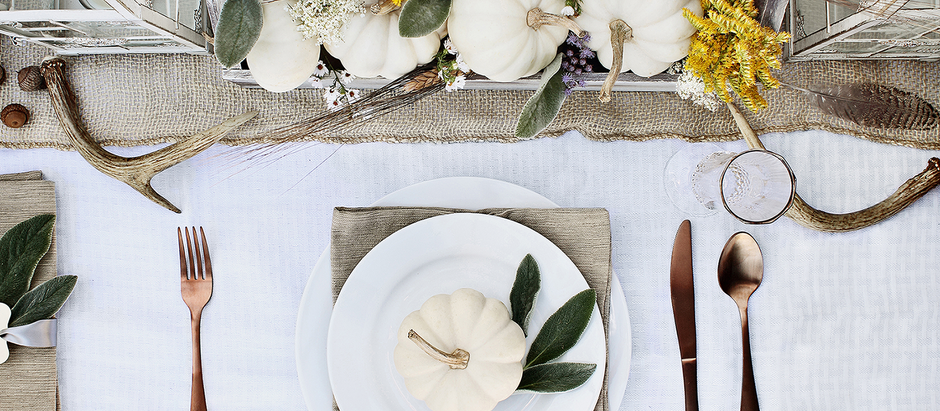 Essentials for setting the perfect Thanksgiving Tablescape