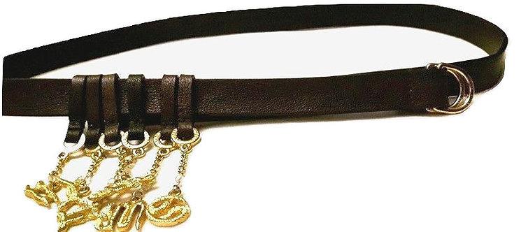 authentic roberto cavalli women skiny belt sze 95cm