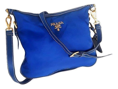 Authentic Blue Tessuto Nylon Crossbody bag