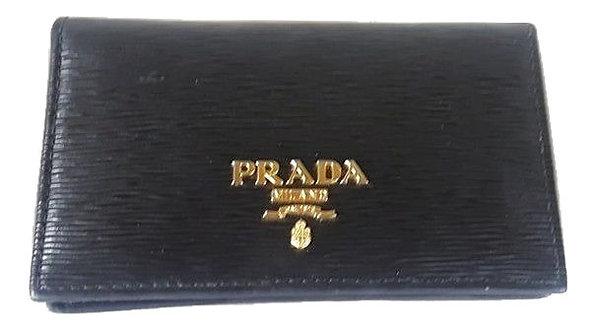 Authentic Prada mini card holder black wallet