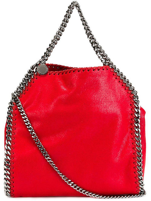 Authentic Stella McCartney red Faux Leather Falabella Tote