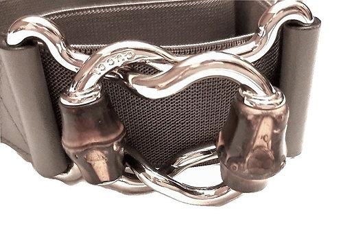 "authentic gucci women stretch grey belt size 32"""