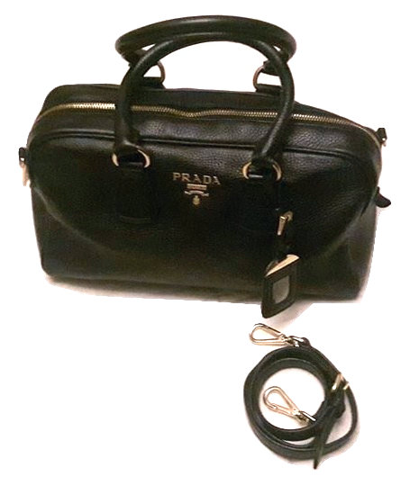 Authentic Prada 'Vitello Daino' Black Leather bag