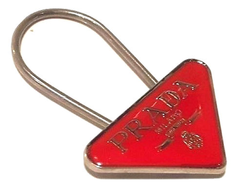 Authentic Prada red Key Chain Ring or bag charm