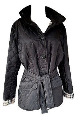 Authentic burberry Black London Classic Quilted Jacket SZL