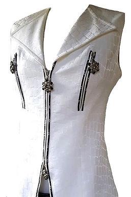 Authentic balizza women white vest with shwarofski SZ S
