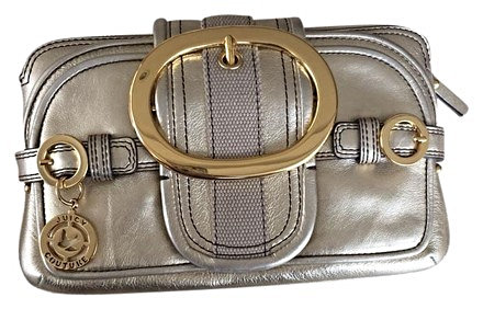Authentic Juicy Couture Clutch Gold Leather bag