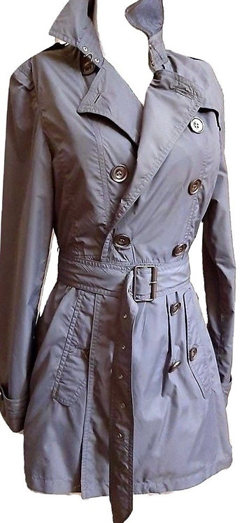 "Authentic Burberry women""s Brit Double Breast Short Trench Coat SZ L/M"