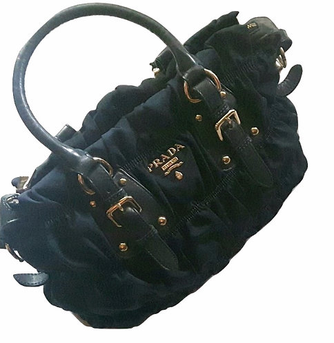 Authentic Prada Ruched Tessuto Gauffre Bag