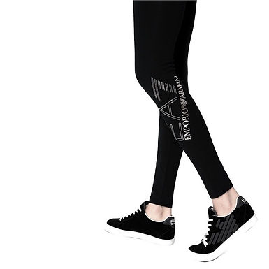 Authentic Emporio Armani Women's Train Core black Leggings ZS S/M