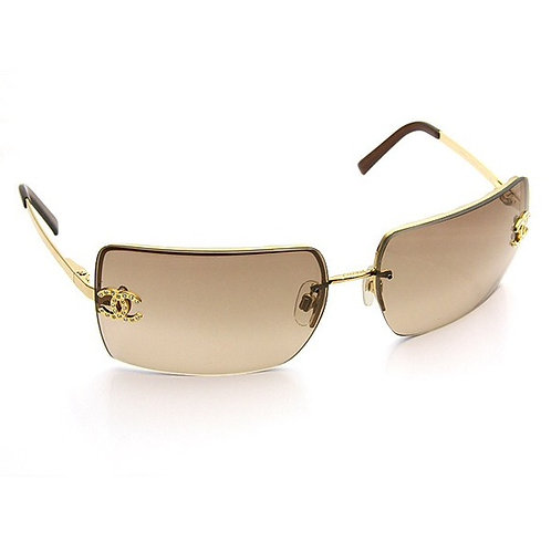 Authentic Chanel Brown Gold 4104b Serial #4104b C125/13 Sunglasses