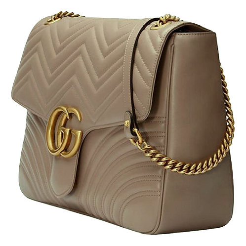 Authentic Gucci Marmont Beige Bag
