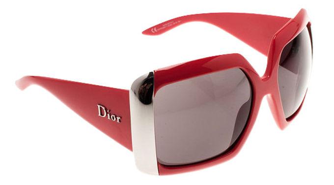 Authentic Dior Red Diorissima 1 Square Sunglasses