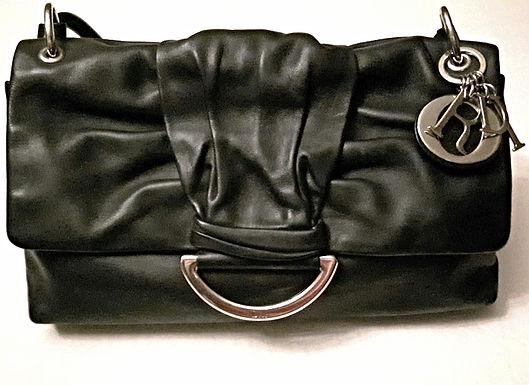 authentic Dior Black Leather medium Bag