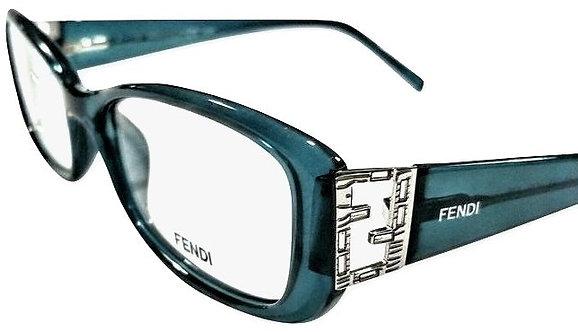 Authentic Women's Fendi Eyeglasses F976R 52-15-135 Ocean Blue