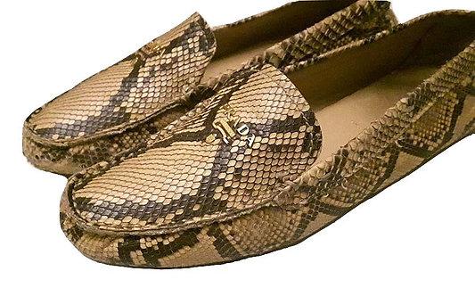 Prada women Snake skin Loafers Sz 37