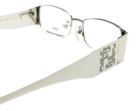 Authentic Women's Fendi Palladium Eyeglasses F923R WHITE 028
