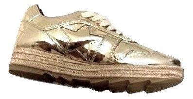Authentic Stella McCartney Gold Metallic Shoe Sz 37
