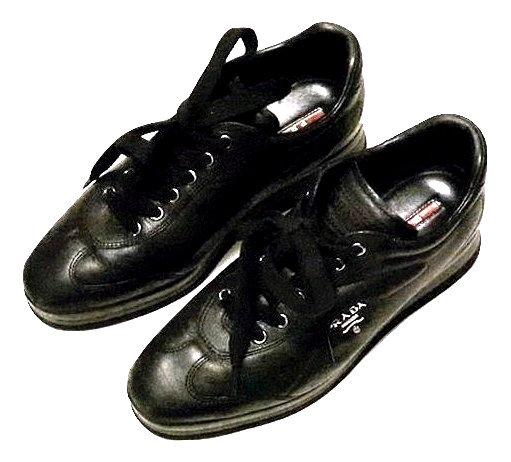 Authentic Prada America's Cup blackLeather women Sneakers SZ 37.5
