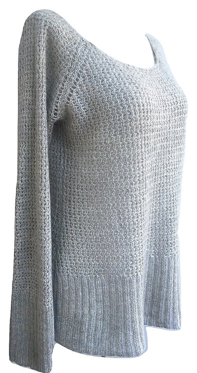 Authentic Armani Exchange Sweater Gray Mohair Pullover ZS M